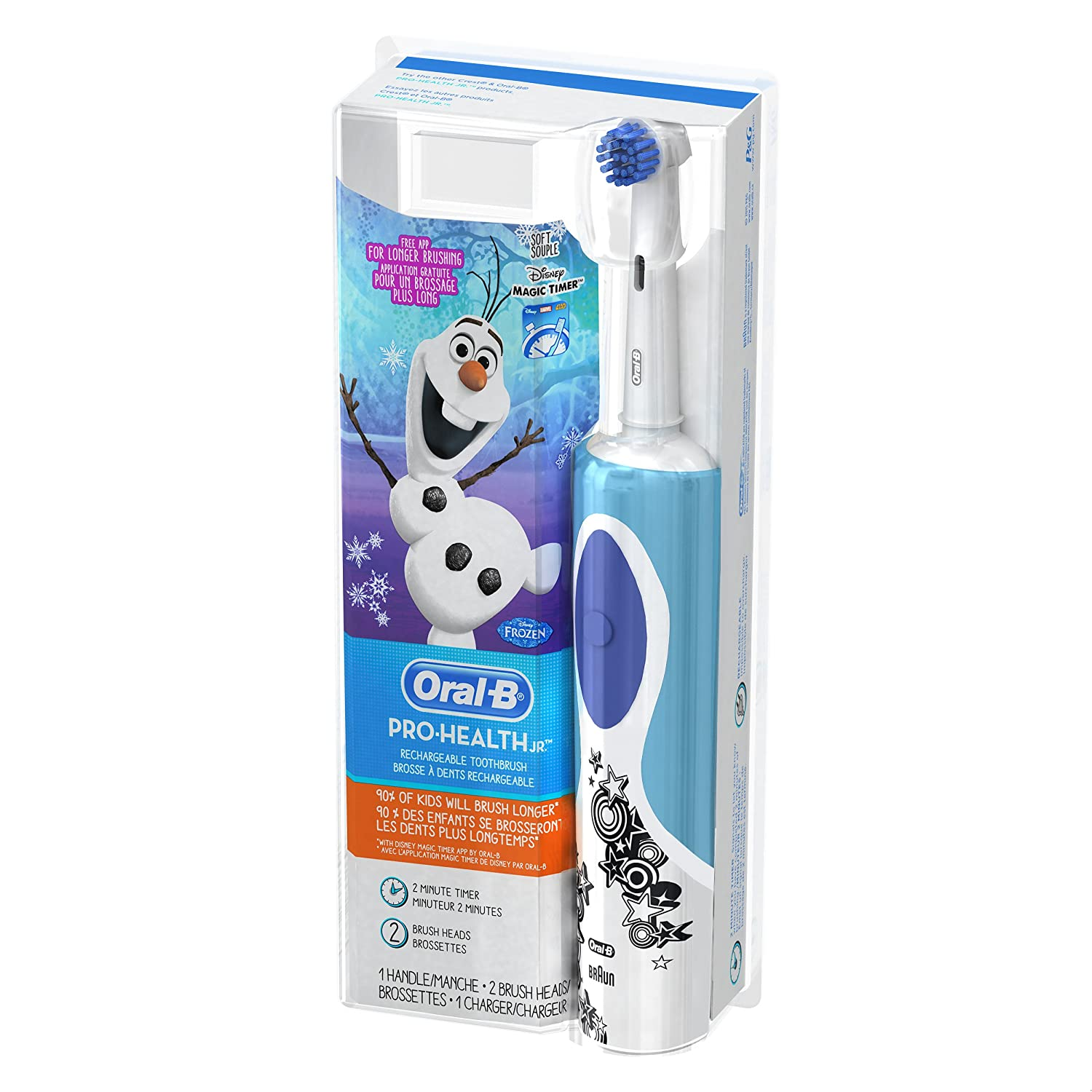 Oral b coloring pages - Amazon Com Oral B Frozen Kids Electric Rechargeable Power Toothbrush Includes 2 Sensitive Clean Refills Beauty