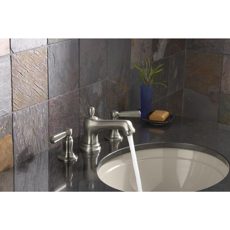 KOHLER K-10577-4P-SN Bancroft Widespread Lavatory Faucet, Vibrant ...