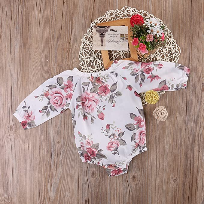 0eb6f8c7a385 Amazon.com  MaBaby Baby Girls Bodysuit Newborn Infant One-Piece ...