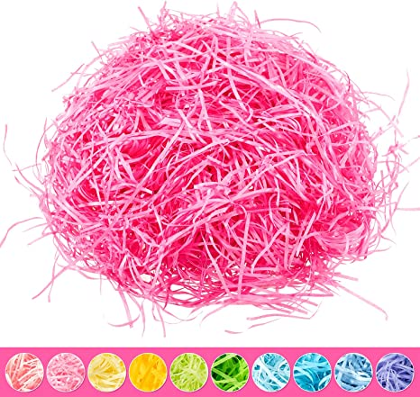 Rose Red Whaline Easter Basket Grass Craft Shredded Tissue Raffia Gift Filler Paper Shreds for Baskets Egg Stuffers for Spring Party Supplies Accessories Decorations