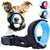 Gentle Muzzle Guard Dogs - Prevents Biting Unwanted Chewing Safely Secure Comfort Fit - Soft Neoprene Padding – No More Chafing – Included Training Guide Helps Build Bonds Pet