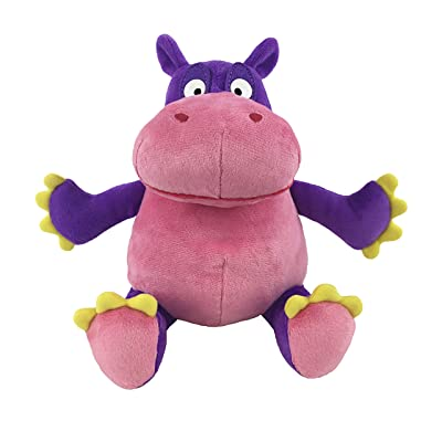MerryMakers The Hiccupotamus Soft Plush Hippopotamus Stuffed Animal Toy, 9-Inch, from Aaron Zenz's The Hiccupotamus Book: Toys & Games