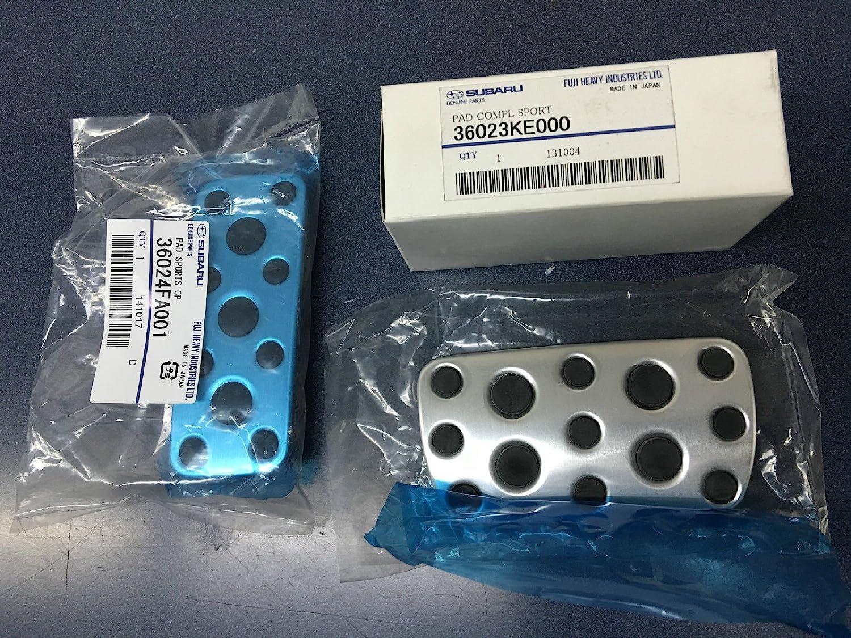 Subaru Genuine STI Aluminum Pedal Pad Cover Kit for Legacy//Outback