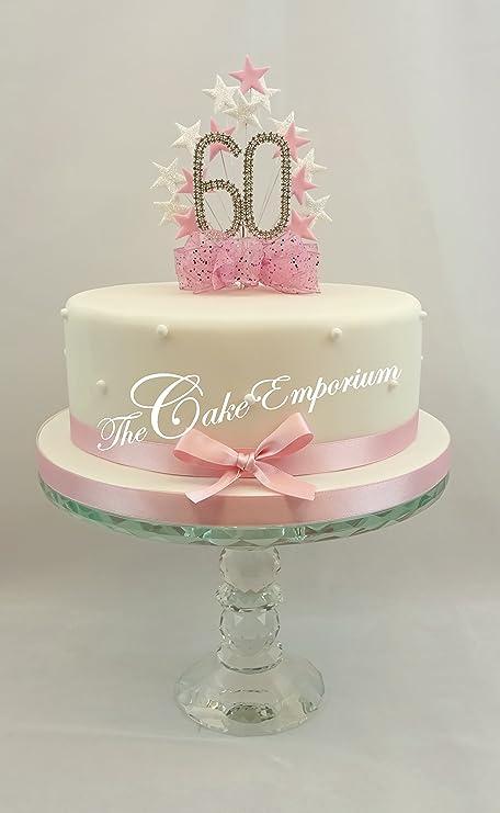 Fine Cake Topper Burst Spray Diamante 60Th Birthday Baby Pink White Personalised Birthday Cards Epsylily Jamesorg