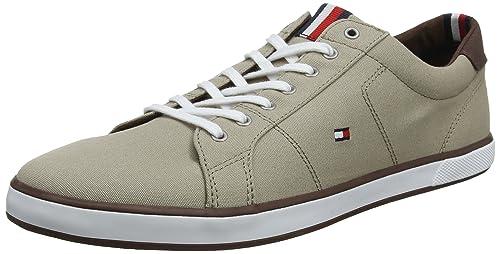 f1dd1911d77cec Tommy Hilfiger Men s s Iconic Long Lace Sneaker Low-Top Grey  Amazon ...