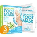 Foot Peel Mask (3 Pack), Foot Mask with Aloe Vera, Exfoliating Baby Foot Peel - Dead Skin Remover for Feet, Foot Exfoliator, Disposable Feet Peeling Mask, Callused Foot Mask Peel, Foot Peeling Mask