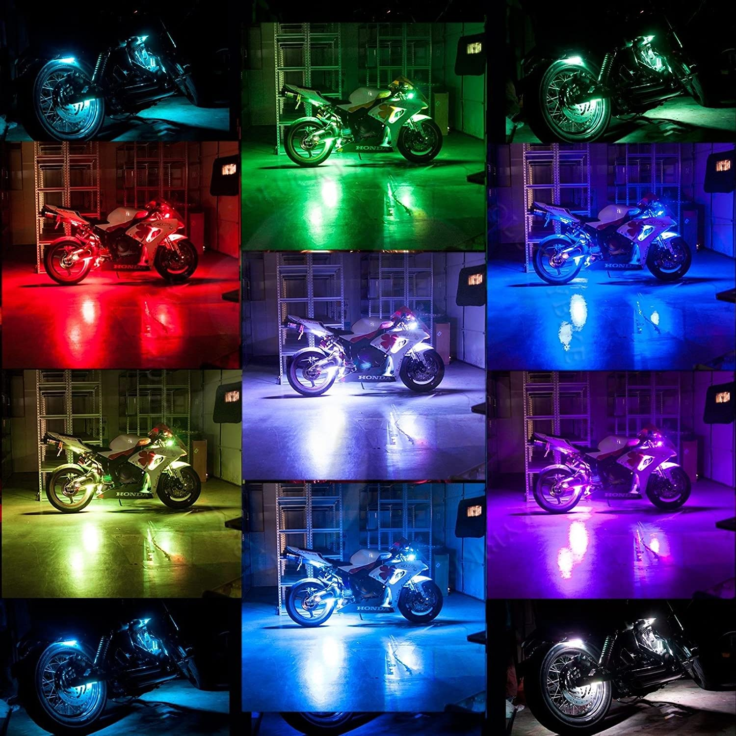 motorcycle h scootlights products com halo lighting lights passing fog led