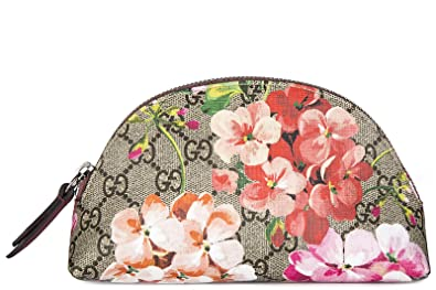 4e2b9c70814 Gucci women s travel makeup beauty case in leather blooms beige ...