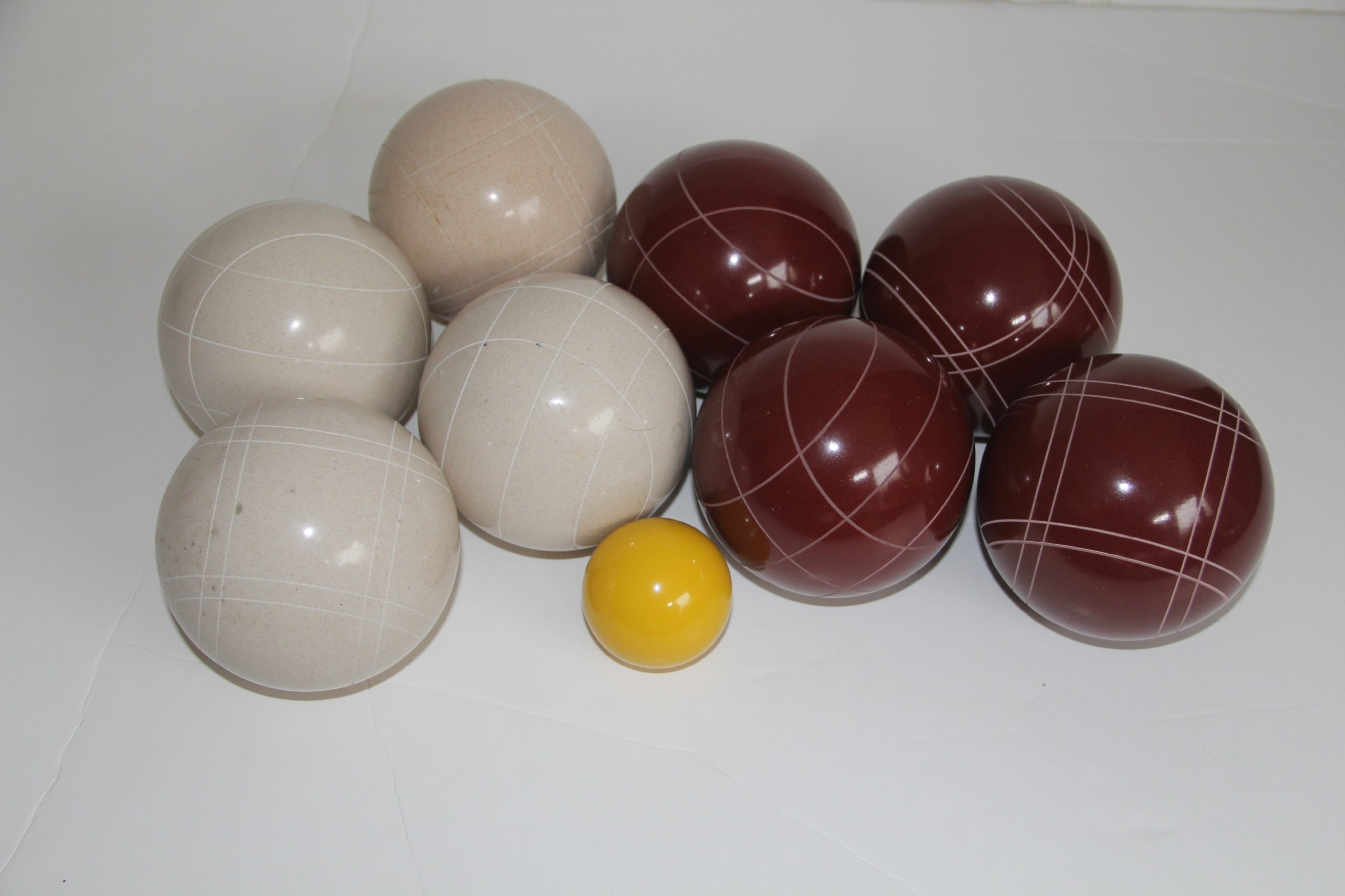 Premium Quality EPCO Tournament Set - 110mm Red and White Bocce Balls - NO BAG OPTION [Toy]