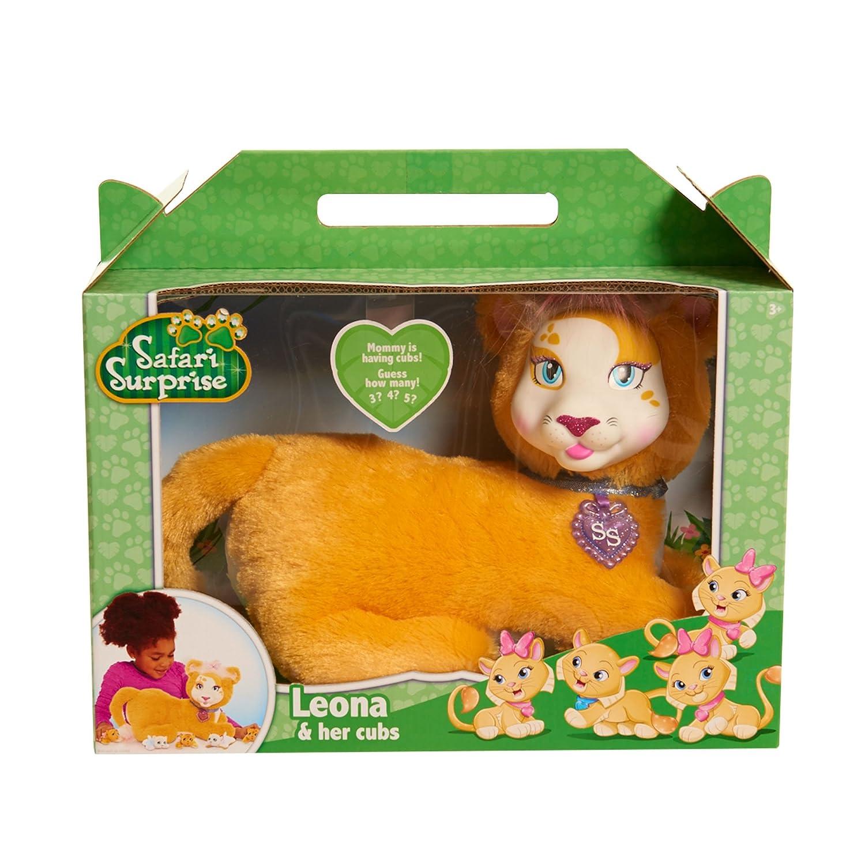 JP Puppy Surprise Peluche de Leona del Safari, primera edición de leones: Amazon.es: Juguetes y juegos