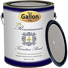 Renaissance Chalk Finish Paint - 1 Gallon - Furniture Paint, Cabinet Paint, Interior Paint, House Paint, Wall Paint - Non Toxic, Eco-Friendly,
