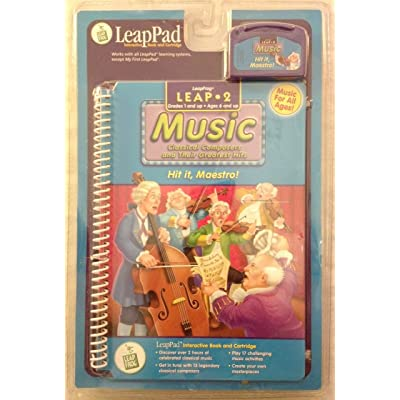 None LeapPad: Leap 2 Music - Hit it, Maestro! Interactive Book and Cartridge: Toys & Games