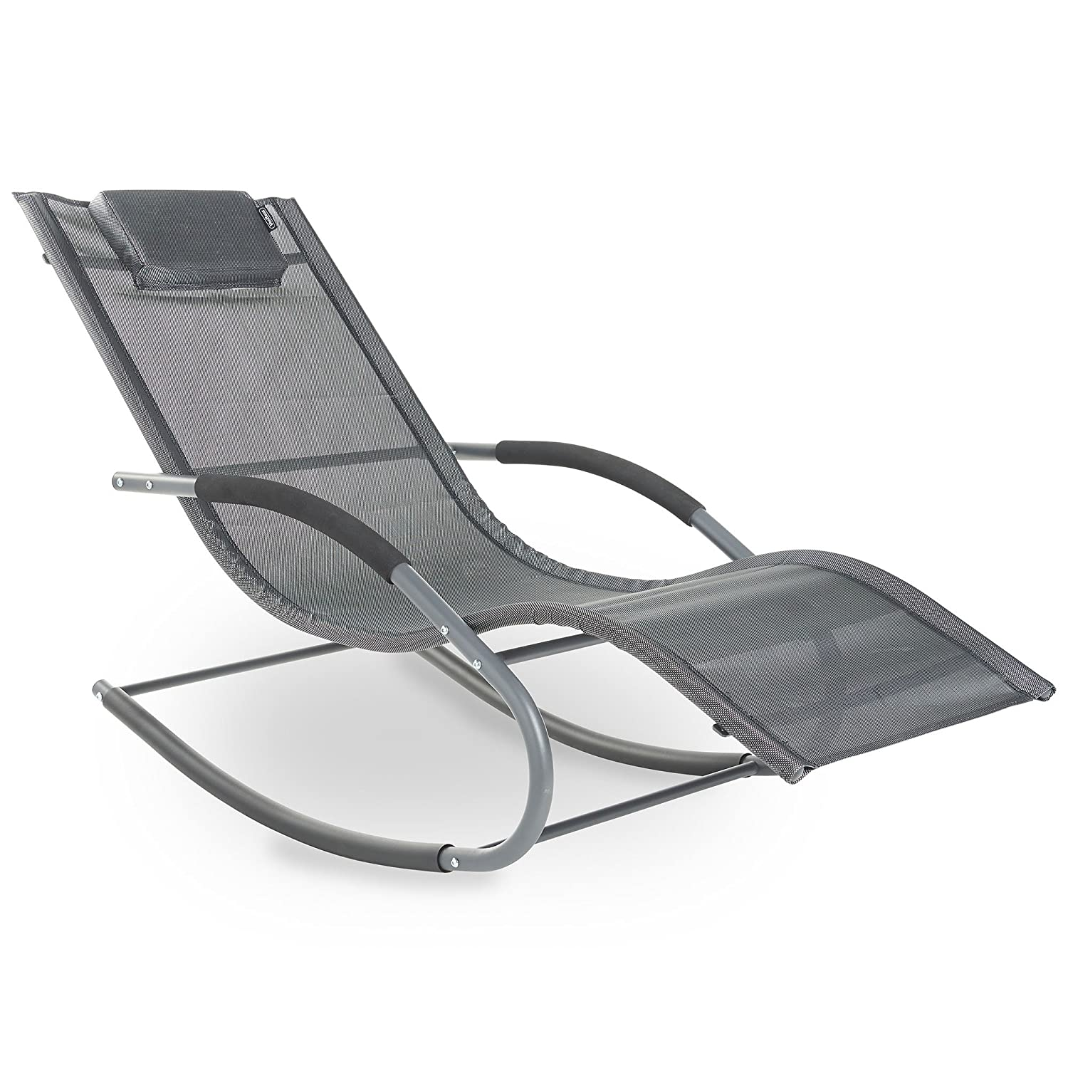Textoline Rocking Sun Lounger Chair Relaxing Outdoor Furniture