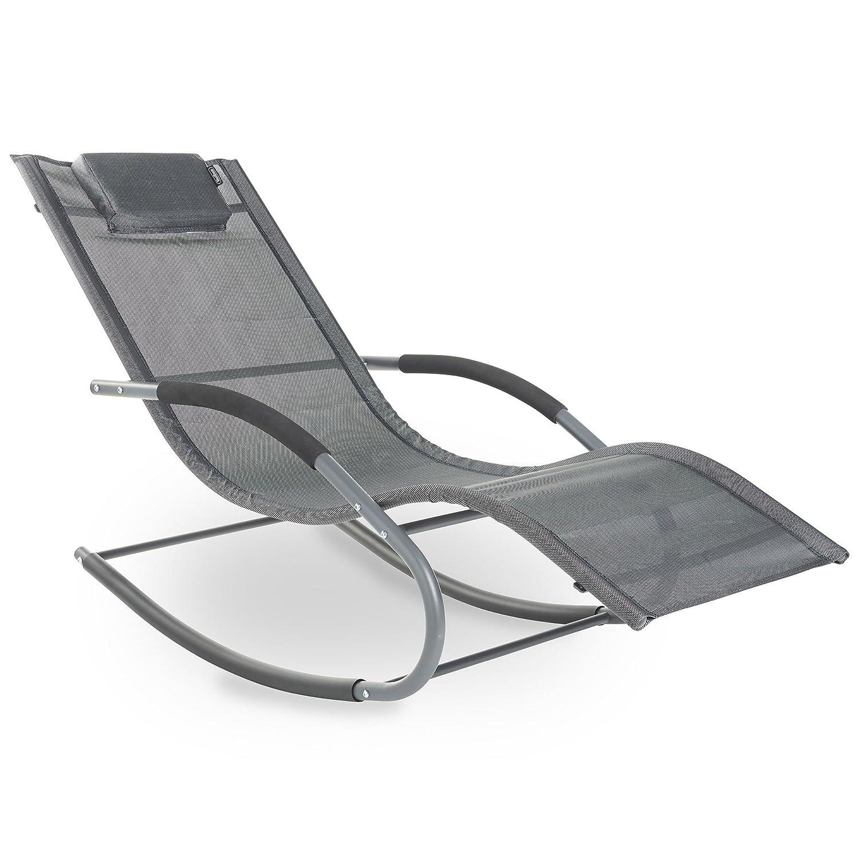 VonHaus Textoline Rocking Sun Lounger   Outdoor Relaxing Chair For Garden,  Patio, Deck: Amazon.co.uk: Garden U0026 Outdoors