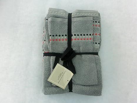 Burrito Blanco - Juego de toallas 89, color gris