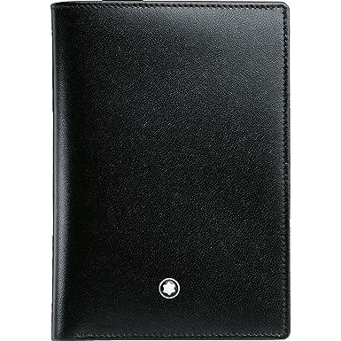 ff147ca95 Montblanc Nueva marca Meisterstuck 4 CC mb-11987 Cartera para hombre color  negro piel: Amazon.es: Ropa y accesorios