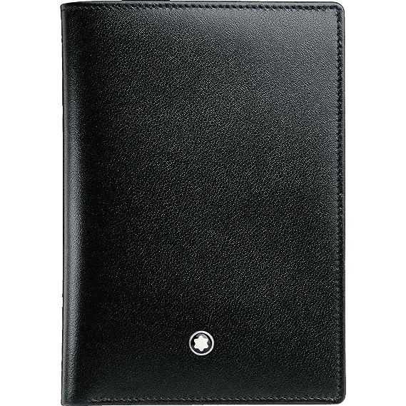 Montblanc Nueva marca Meisterstuck 4 CC mb-11987 Cartera para hombre color negro piel: Amazon.es: Ropa y accesorios