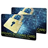 YBWM スキミング防止カード RFIDカード 2枚セット 一枚で全財布を守る 防水 スキミング被害防止 クレジットカードプロテクター 磁気 データ保護 海外旅行用品