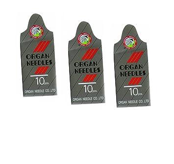 30 piezas punta de bola Jersey Home Surtido de agujas para máquina de coser (órgano