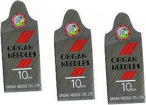 30 piezas de punto jersey Home Surtido de agujas para máquina de coser (órgano 15 x 1 tamaño # 10,12,14) 10pcs por tamaño: JAP: Amazon.es: Hogar