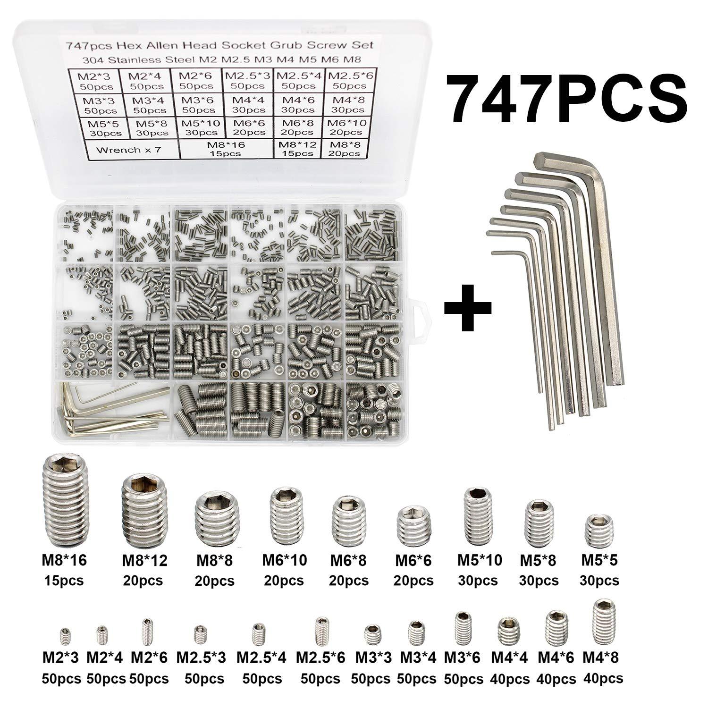 MEIYYJ M2 M2.5 M3 Hex Socket Flat Head Screw 304 Stainless Steel Hexagonal Co...