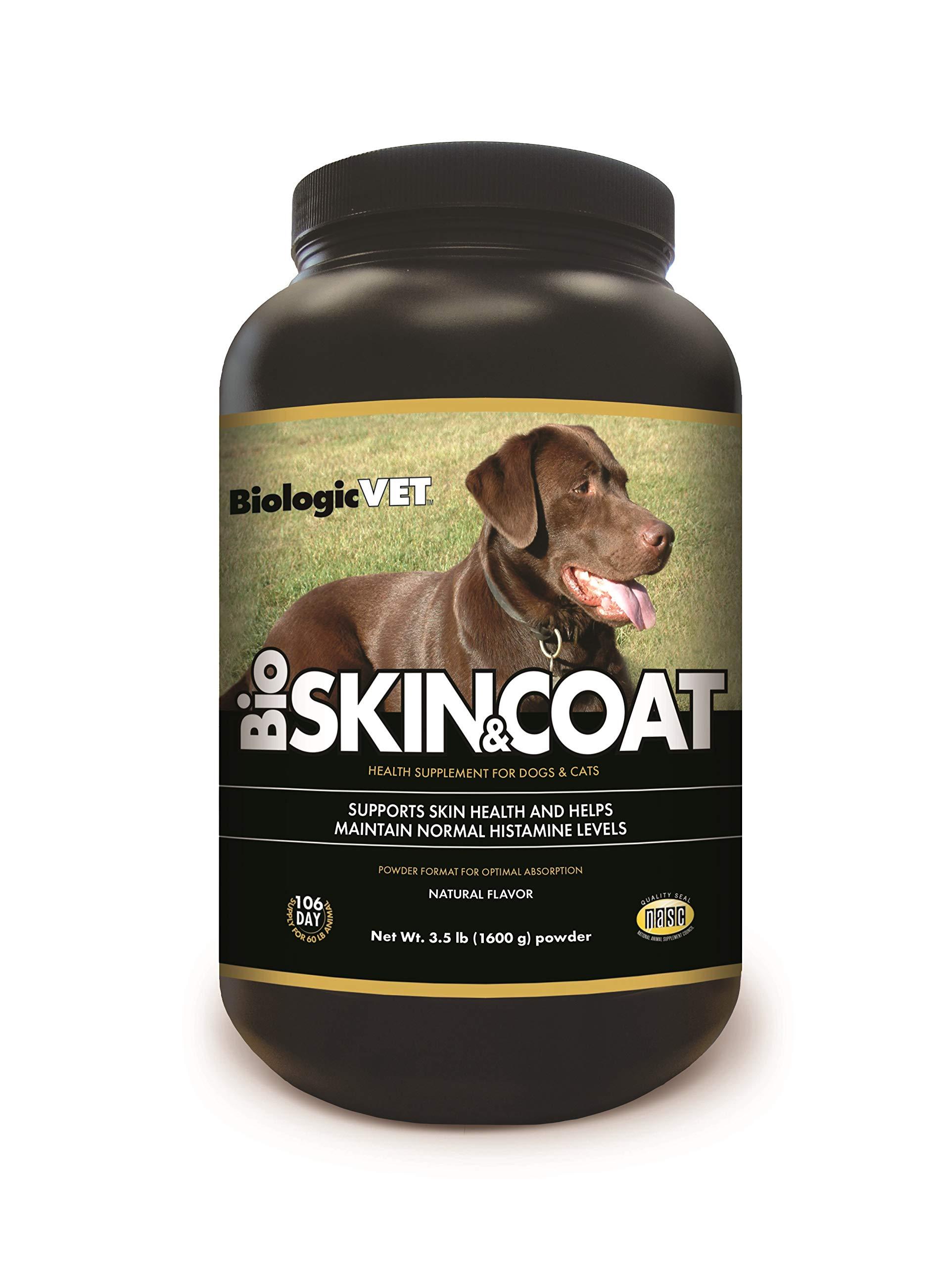 BiologicVET Bioskin&Coat Natural Antihistamine for Dogs & Cats Powder, 3.5 lb by BiologicVET