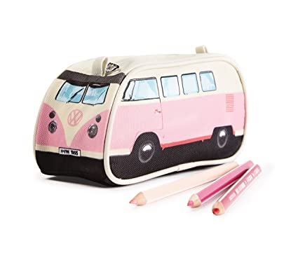 201e660c30 Amazon.com   VW Volkswagen T1 Camper Van Pencil Case - Pink - Multiple  Color Options Available   Office Products