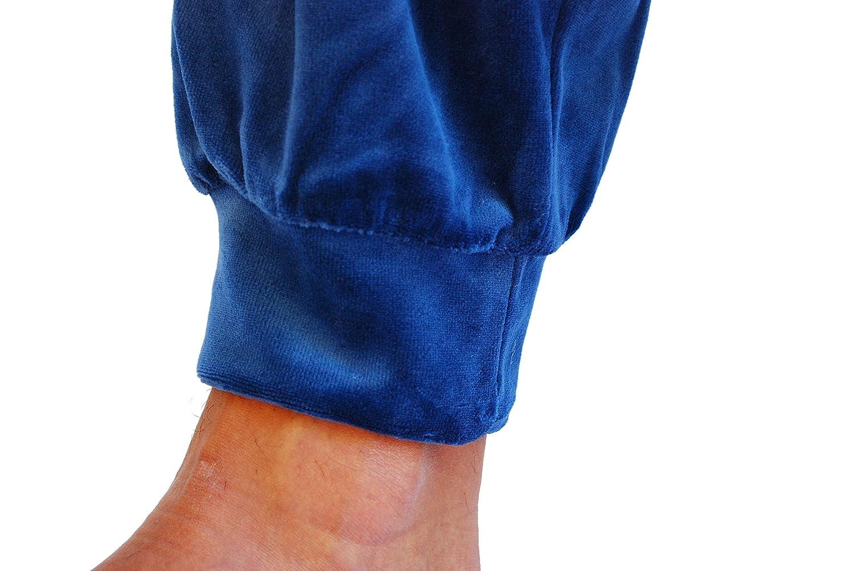 Algodonea - Pijama Caballero Terciopelo Azul Marino - M: Amazon.es: Ropa y accesorios
