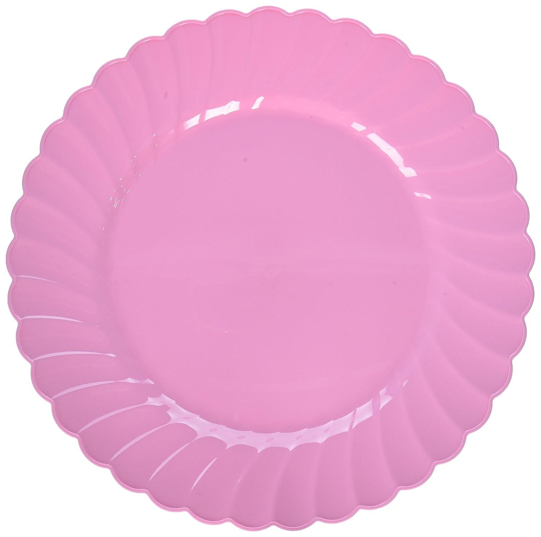 Amscan 430901.86 10 1//4 Scallop Premium Plates Party Supplies Clear