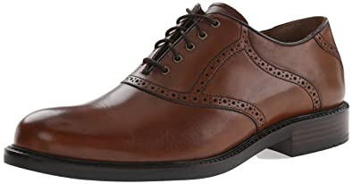 Johnston  Murphy Mens Tabor Saddle Oxford Mahogany Calfskin