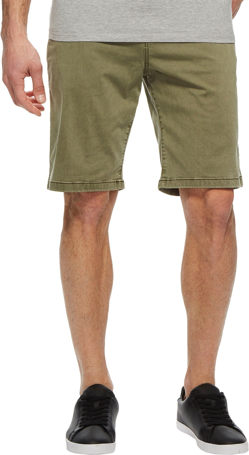 Lucky Brand Men's Stretch Sateen Flat Front Shorts Deep Lichen Green 33W x 9L
