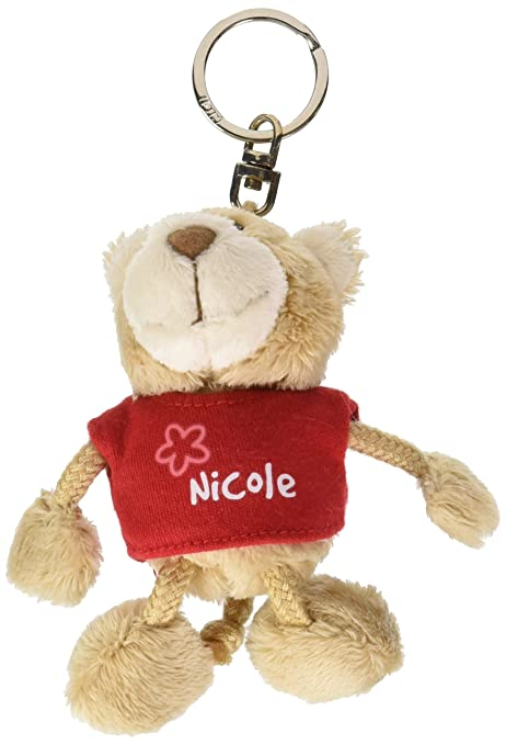 NICI n15830 - Llavero Oso con Camiseta Nicole, Rojo: Amazon ...