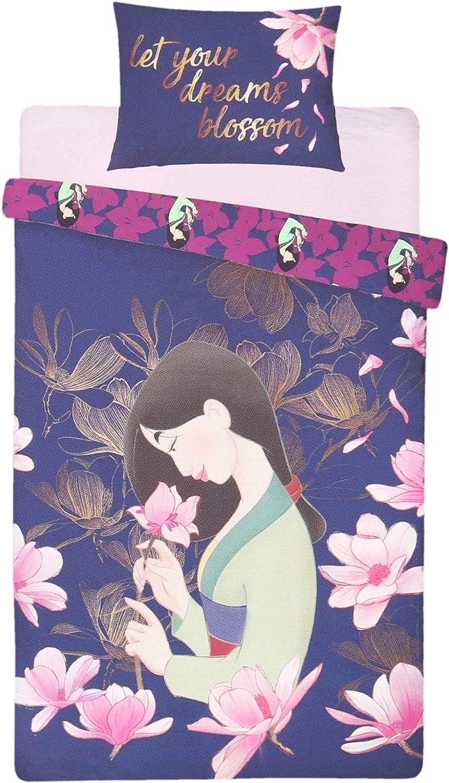 sarcia.eu Literie Bleu fonc/é 135x200 Mulan Disney