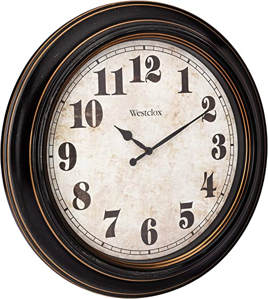 Amazon Com Westclox 32213 Oversized Classic Wall Clock 24 Round Home Garden Improvement Kitchen Dining