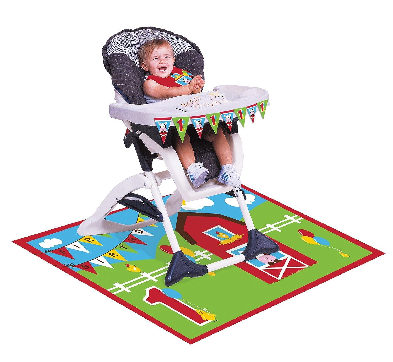 amazon com creative converting farmhouse fun high chair birthday
