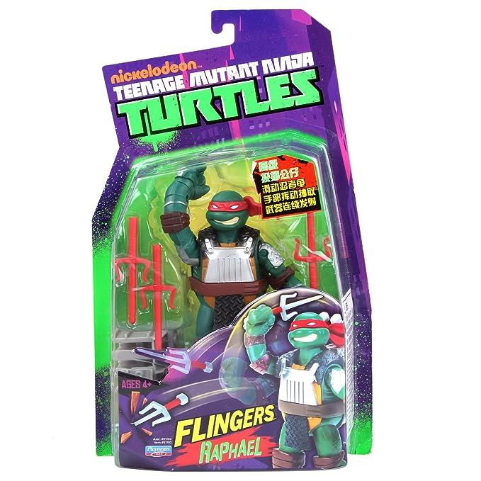 Turtles Teenage Mutant Ninja Turtles Flingerz - Figura de Raphael [importado]