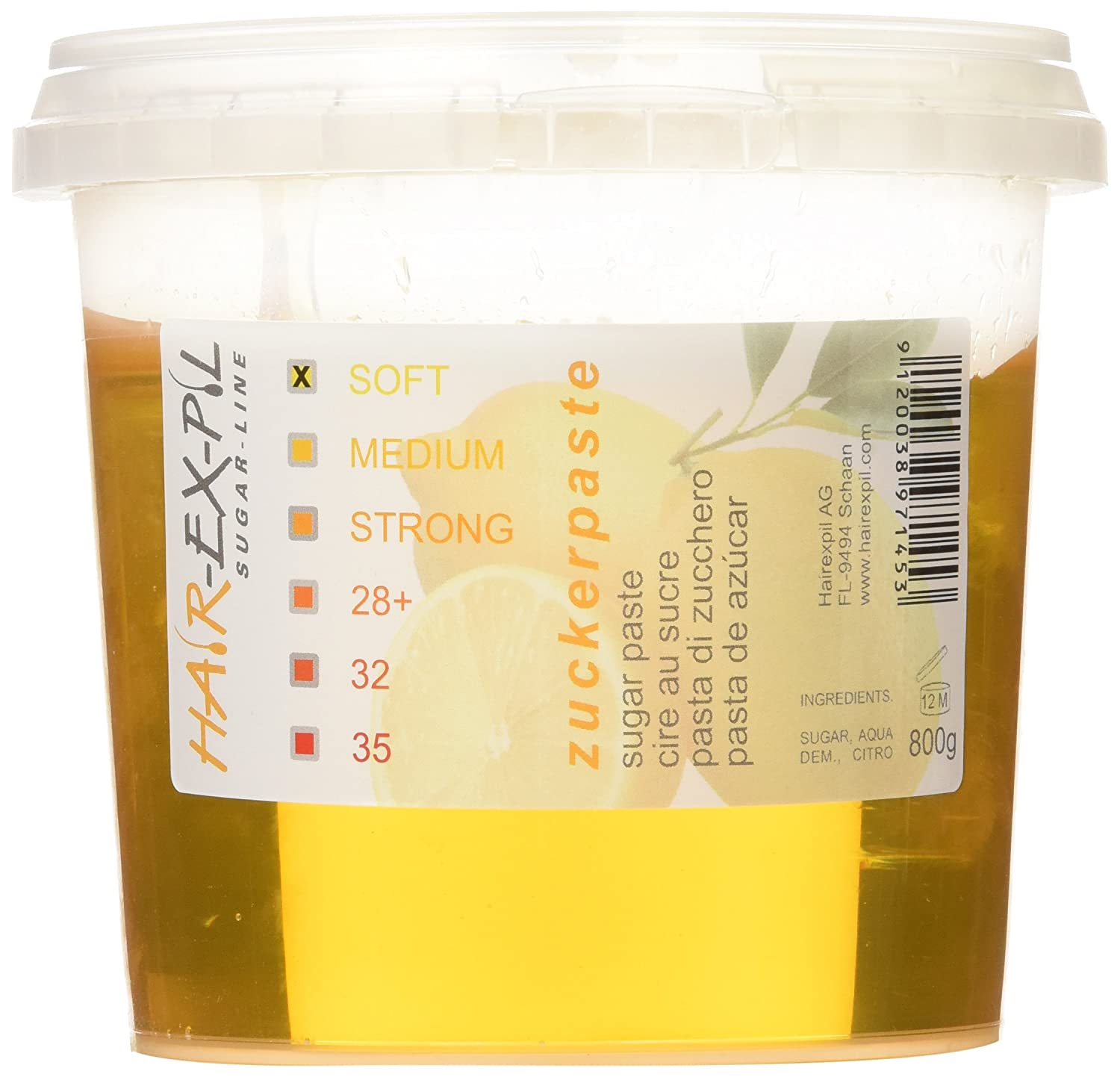 Sugar Paste Soft - Premium Quality. Highly-effective Adesiveness. 800gr Container Sugaring Sugar Paste XPS-Soft
