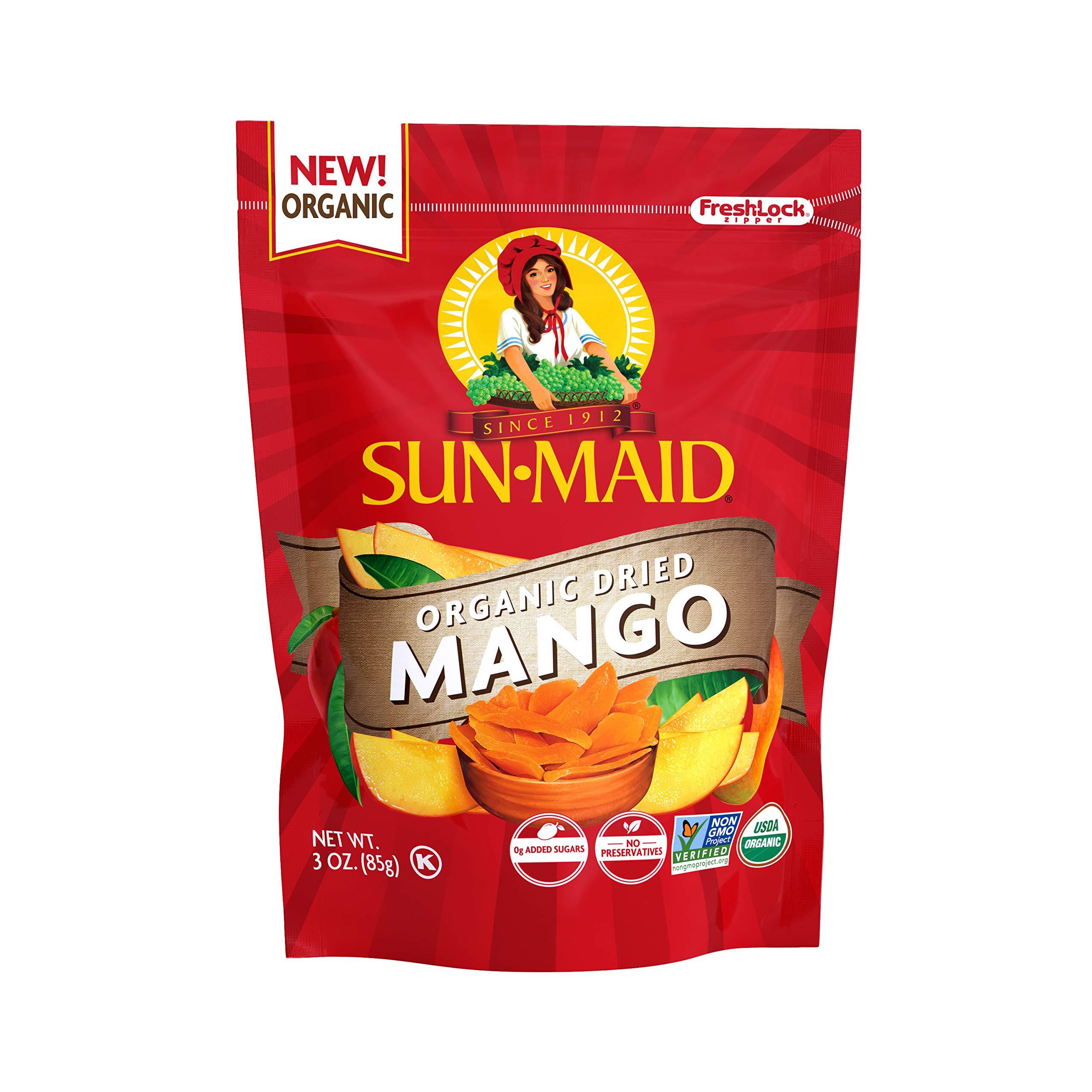 Sun-Maid Sun-Maid Organic Mangos SUP, 3 Ounce (Pack of 12) by SUN-MAID