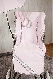 Colchoneta para silla de paseo universal flor rosa. Funda ...