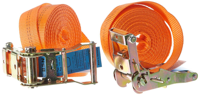 Braun 1000-1-600/VE2 - Pulpo con hebilla para baca (2000 daN, 6 m, 35 mm de ancho), color naranja Braun GmbH