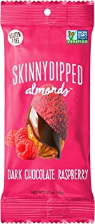product image for SKINNYDIPPED Dark Chocolate Raspberry Covered Almonds, 1.5 Ounce Bag, 10 Count