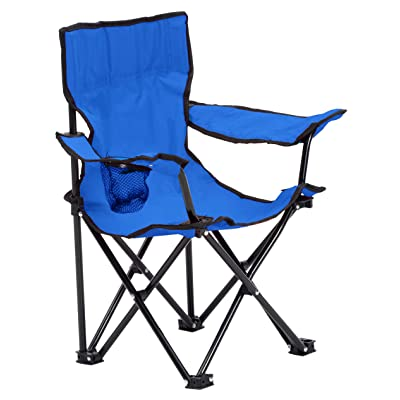 Quik Chair Folding Camp Chair for Kids with Carry Bag, Blue: Garden & Outdoor