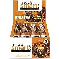 PhD Smart Bar-High Protein Low Sugar Bar, Dark Choc Caramel Crunch, 64 g, Pack of 12