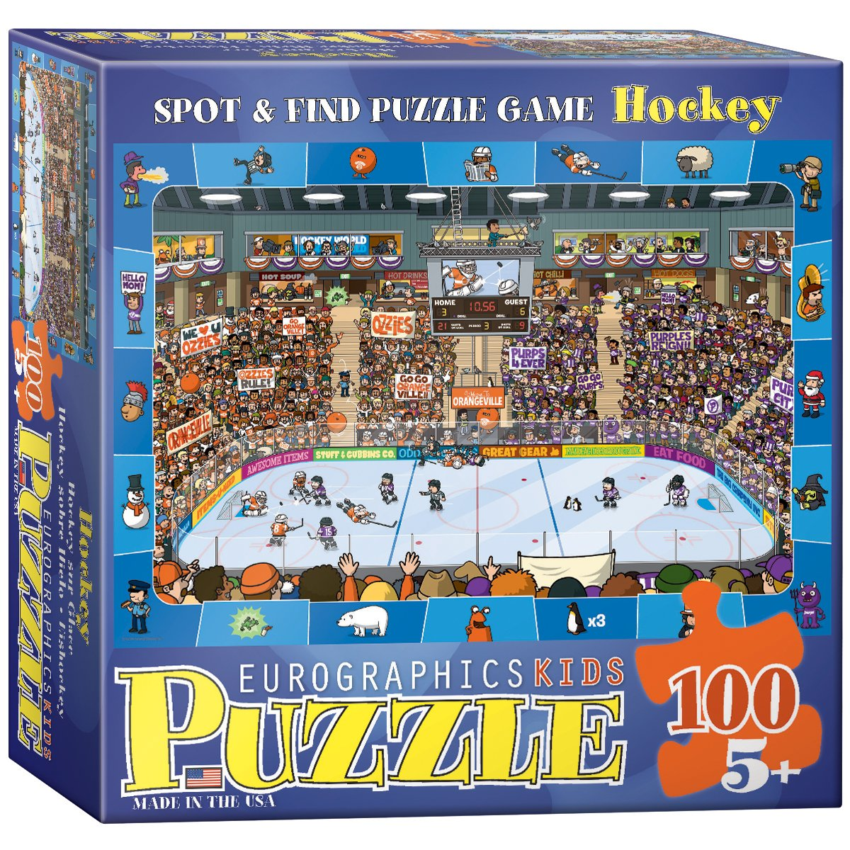 Eurographics Spot and Find Hockey MO Puzzle (100 Pieces) 6100-0475