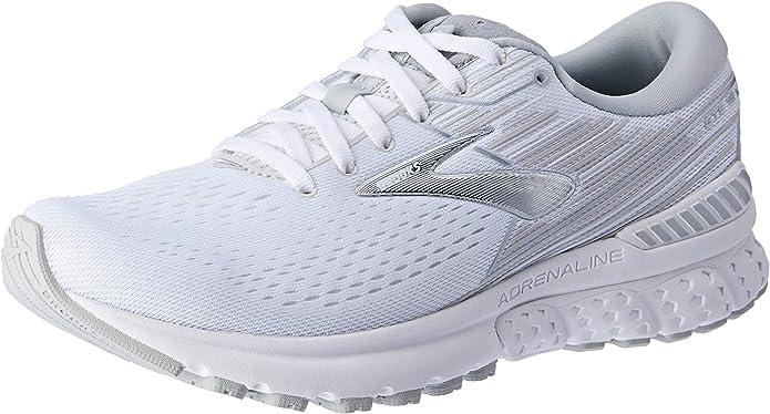 Brooks Adrenaline GTS 19 Sneakers Laufschuhe Damen Weiß/Grau