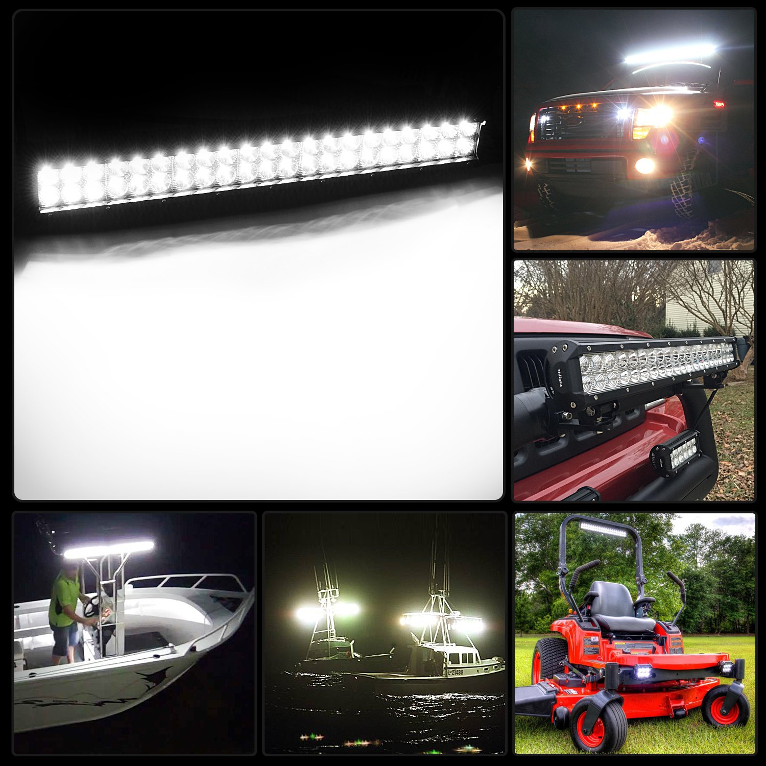 Led Light Bar Nilight 20 Inch 126w Work Spot Details About Flood Driving Wiring Button On Off Combo Road Lights Fog Jeep Boat