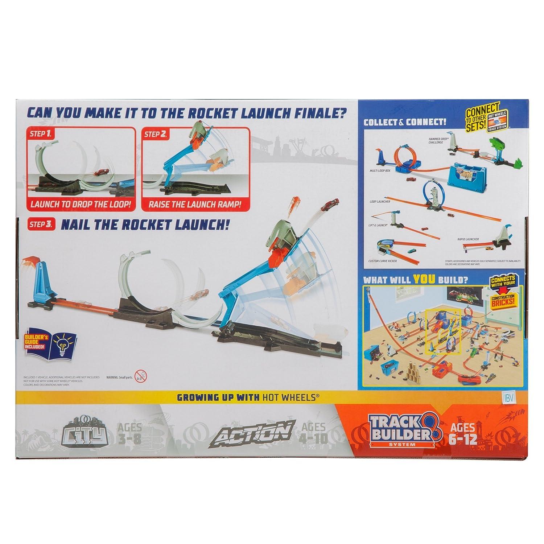 Hot Wheels Track Builder Rocket Launch Challenge Playset Mattel FLK60