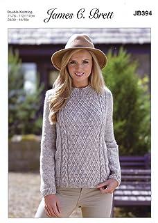 Ladies Button Up Jacket Amazon Super Chunky Knitting Pattern James Brett JB219