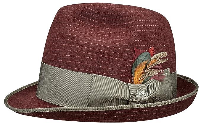 Stetson - Sombrero de Vestir - para Hombre Rojo Rojo  Amazon.es  Ropa y  accesorios cc10bec3a8e