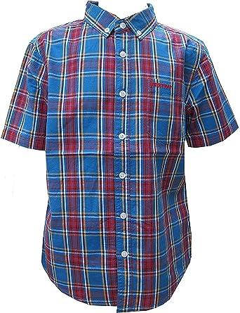 Firetrap Niños Manga Corta Camisa De Cuadros 100% Algodón ...